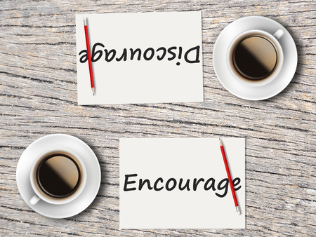 discourage: The Business Concept : Comparison between discourage and encourage    .
