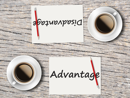 appropriate: The Business Concept : Comparison between advantage and disadvantage  .