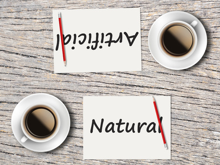 comparisons: The Business Concept : Comparison between natural and artificial    .