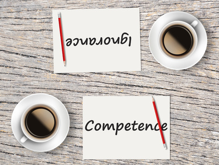 ignorance: The Business Concept : Comparison between competence and ignorance    .