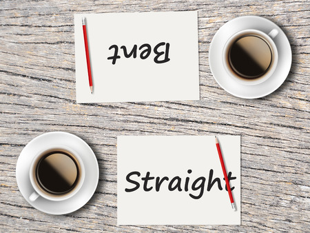 appropriate: The Business Concept : Comparison between  bent and straight  .