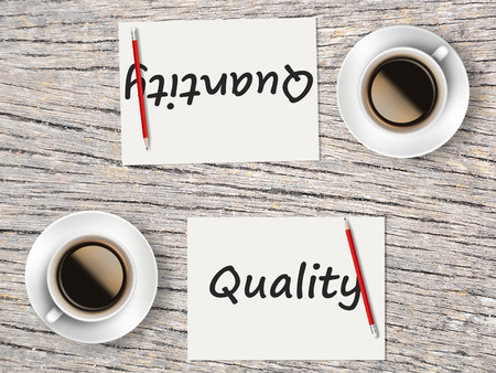 comparisons: The Business Concept : Comparison between quality and quantity   .