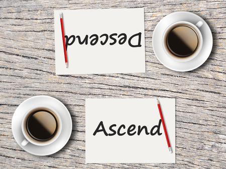 descend: The Business Concept : Comparison between ascend and descend  .