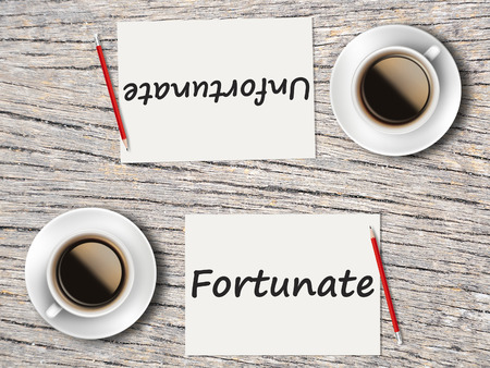 unfortunate: The Business Concept : Comparison between fortunate and unfortunate   .