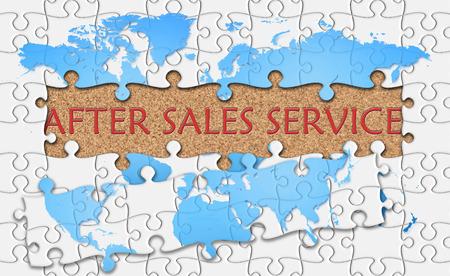Jigsaw puzzle rivelare parola servizio post-vendita. Archivio Fotografico - 41601055