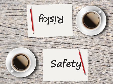 risky: The Business Concept : Comparison between safety and risky   .