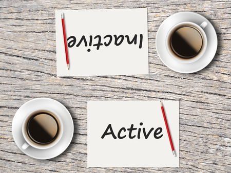 inactive: The Business Concept : Comparison between active and inactive .