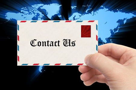 email contact: Contact us - email concept.