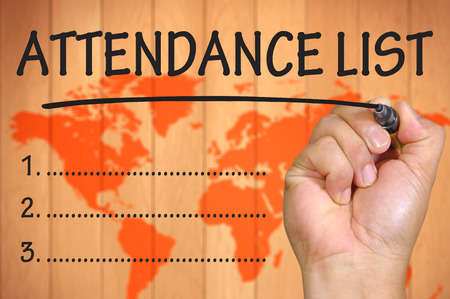 attendance: hand writing attendance List .