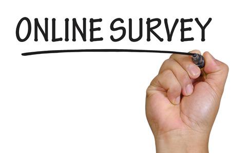 online survey: hand writing online survey  .