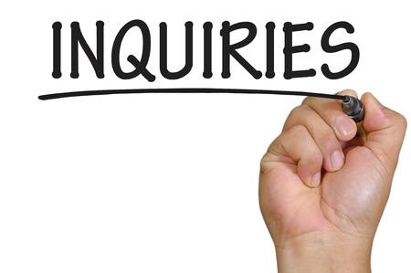 inquiries: The hand writing inquiries