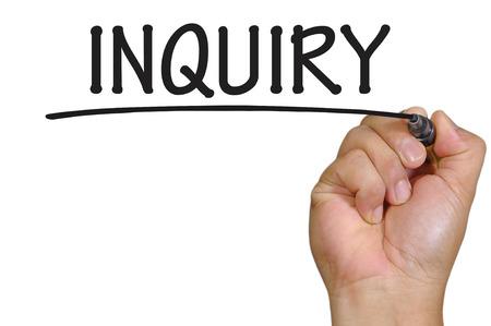 inquiry: The hand writing inquiry