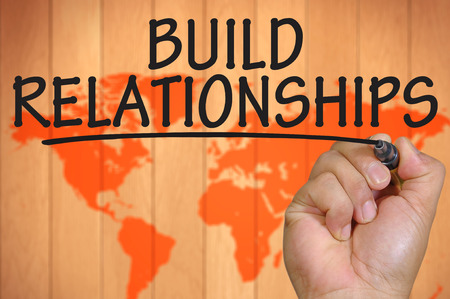 The hand writing build relationships