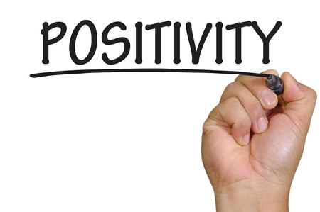 positivity: The hand writing positivity Stock Photo