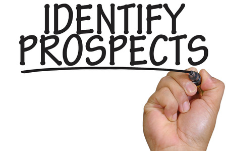 the prospects: The hand writing identify prospects Stock Photo