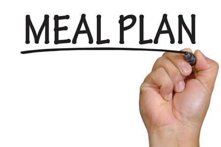 The hand writing meal plan