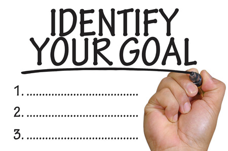 identify: The hand writing identify your goal