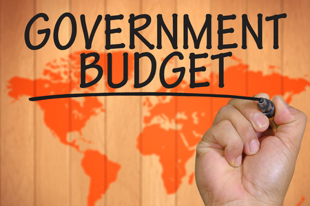 stimulus: The hand writing government budget