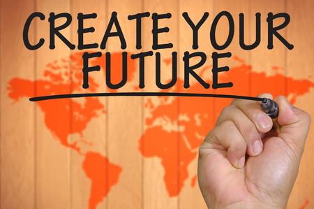 La scrittura a mano a creare il tuo futuro Archivio Fotografico - 42612624