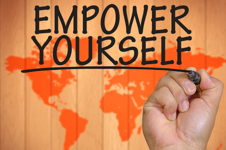 empower: The hand writing empower yourself