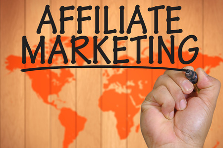 affiliate: The hand writing affiliate marketing