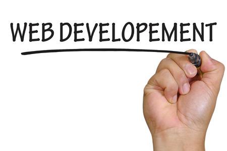 La scrittura a mano sviluppo web. Archivio Fotografico - 42880342
