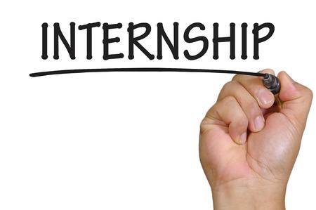 internship: hand writing internship .
