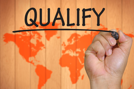 qualify: The hand writing qualify
