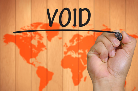 void: The hand writing void