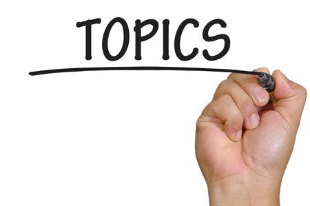 topics: The hand writing topics