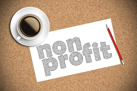 Caffè e matita schizzo senza scopo di lucro su carta. Archivio Fotografico - 46658994
