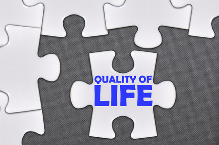 zest for life: The white jigsaw puzzle written word quality of life.