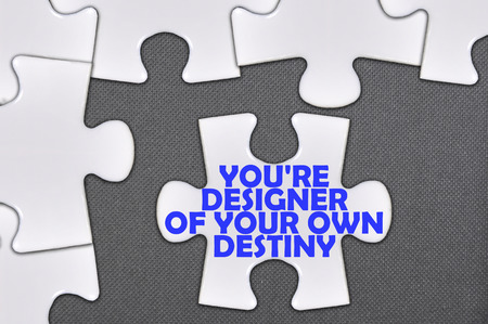 destiny: The white jigsaw puzzle written word youre designer of your own destiny.