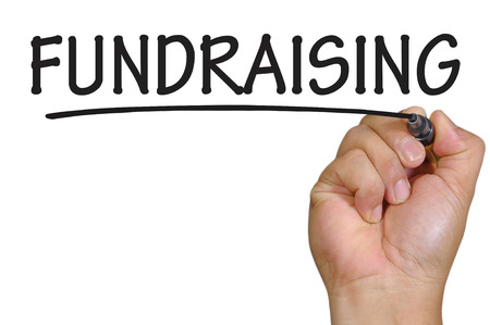 The hand writing fundraising