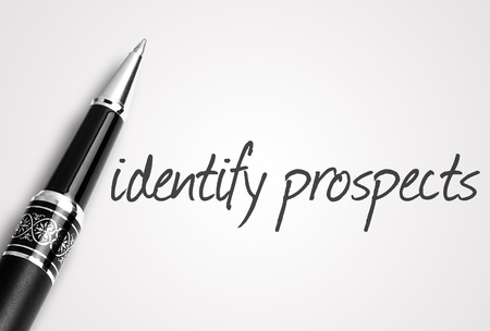 the prospects: pen writes identify prospects on white blank paper.