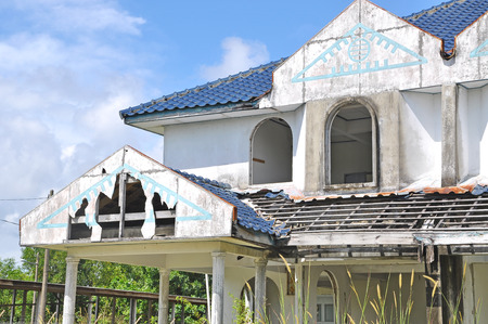 demolish: abandon house waiting to be demolish.