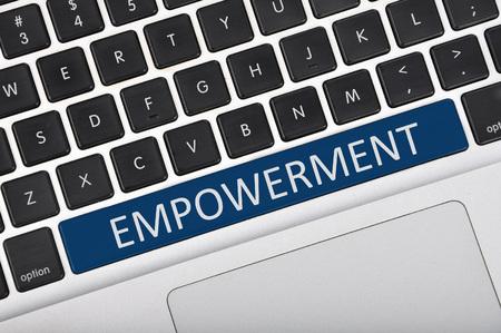 empowerment: The computer keyboard button written word empowerment Stock Photo