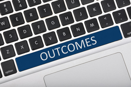 outcomes: Keyboard space bar button written word outcomes