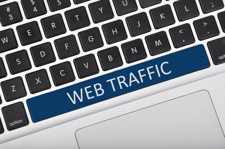 web traffic: The computer keyboard button written word web traffic