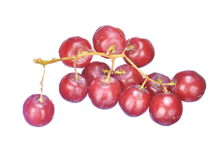 seedless: Delicious bunch red seedless crimson grape isolated on white.