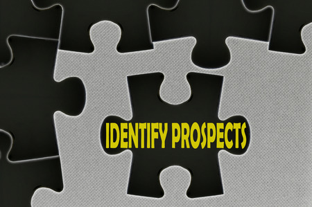 the prospects: The white jigsaw puzzle written word identify prospects.