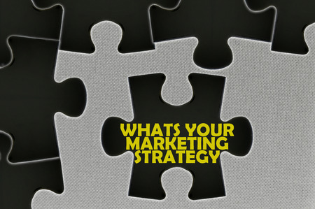 popularity: The white jigsaw puzzle written word whats your marketing strategy.