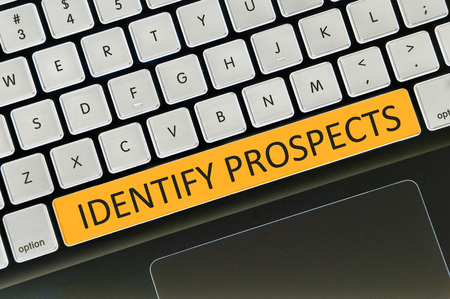 the prospects: The computer keyboard button written word identify prospects .