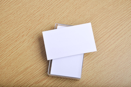 blank mockup business card for branding and logo print on it case. landscape style. Archivio Fotografico