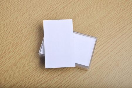 blank mockup business card for branding and logo print on it case. potrait style.