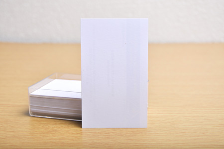 blank mockup business card for branding and logo printing with casing in potrait style.