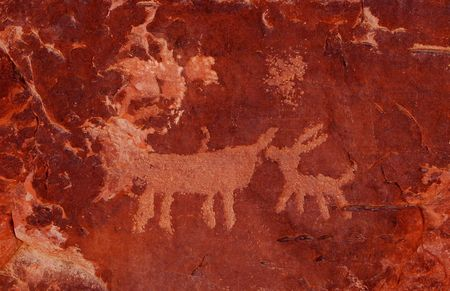Petroglyphs in Valley of Fire State Park, Nevada Stock Photo