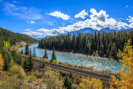 Bow Valley Parkway in Banff National Park, Alberta, Canada