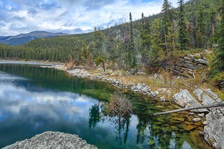 Horseshoe Lake, Jasper National Park, Alberta, Canada Stock Photo