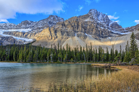 Sunrise at Bow Lake, Icefields Parkway, Alberta, Canada photo